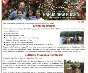 Read more...Russell Family Prayer Letter - July 2021