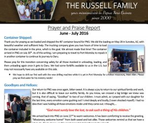 Read more...The Russells - August 2016 Prayer Letter