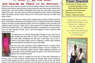 SOS Ministries March-April 2017 Prayer Letter