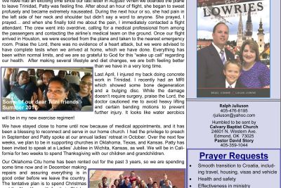 SOS Ministries Sep-Oct 2017 Prayer Letter