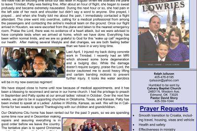 SOS Ministries Sep-Oct 2017 Prayer Letter